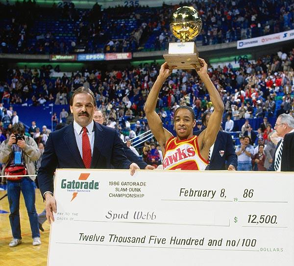 Spud Webb Wins 1986 NBA Slam Dunk Title