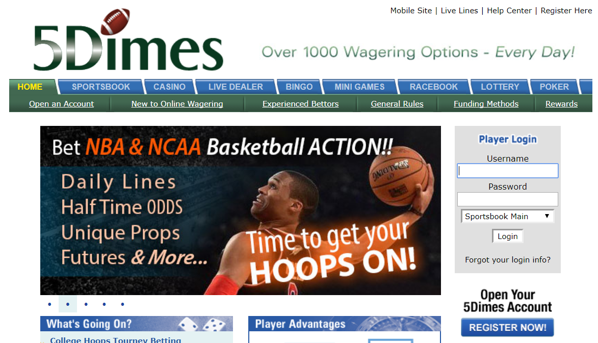 Five Dimes Review